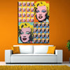 Marilyn Monroe Andy Warhol Pop Art Print On Canvas