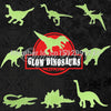 Glow in the Dark Fluorescent  Dinosaur Stickers 9pcs/pack