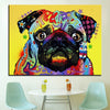 Large Size Print Oil Painting Wall painting pug dogs Home Decorative Wall  Art Picture For Living Room paintng No Frame