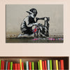 Banksy Hiphop Boy Graffiti Street Art Canvas Print