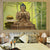 3 Panel Abstract Printed Gold Buddha & Bamboo