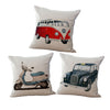 Vintage Motors Pillow Cushion
