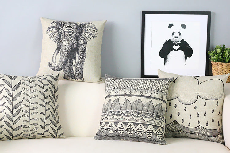 Handpainted Elephant And Patterns Cushion Covers Print Artizans Interesting Hand Painted Pillow Covers