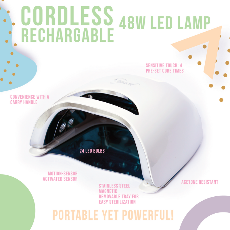 Cordless Rechargeable 48W LED Lamp
