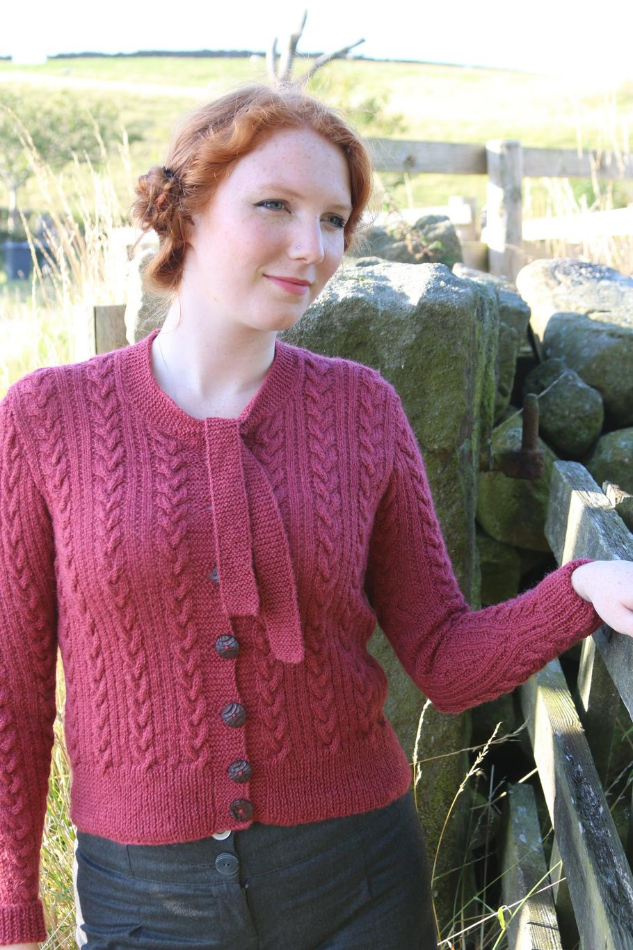 Pattern - Tri Cable Cardigan
