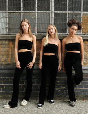 black velvet flares womens velvet clothing