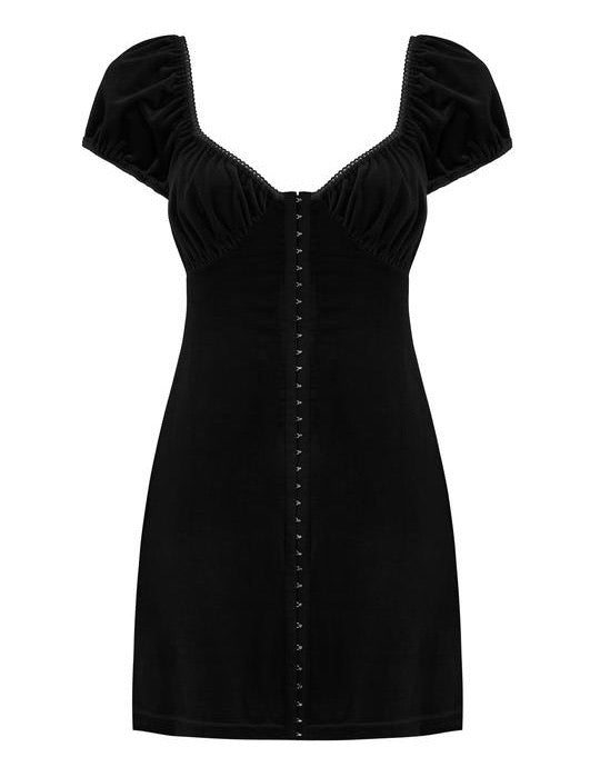 Antonia velvet corset dress - black