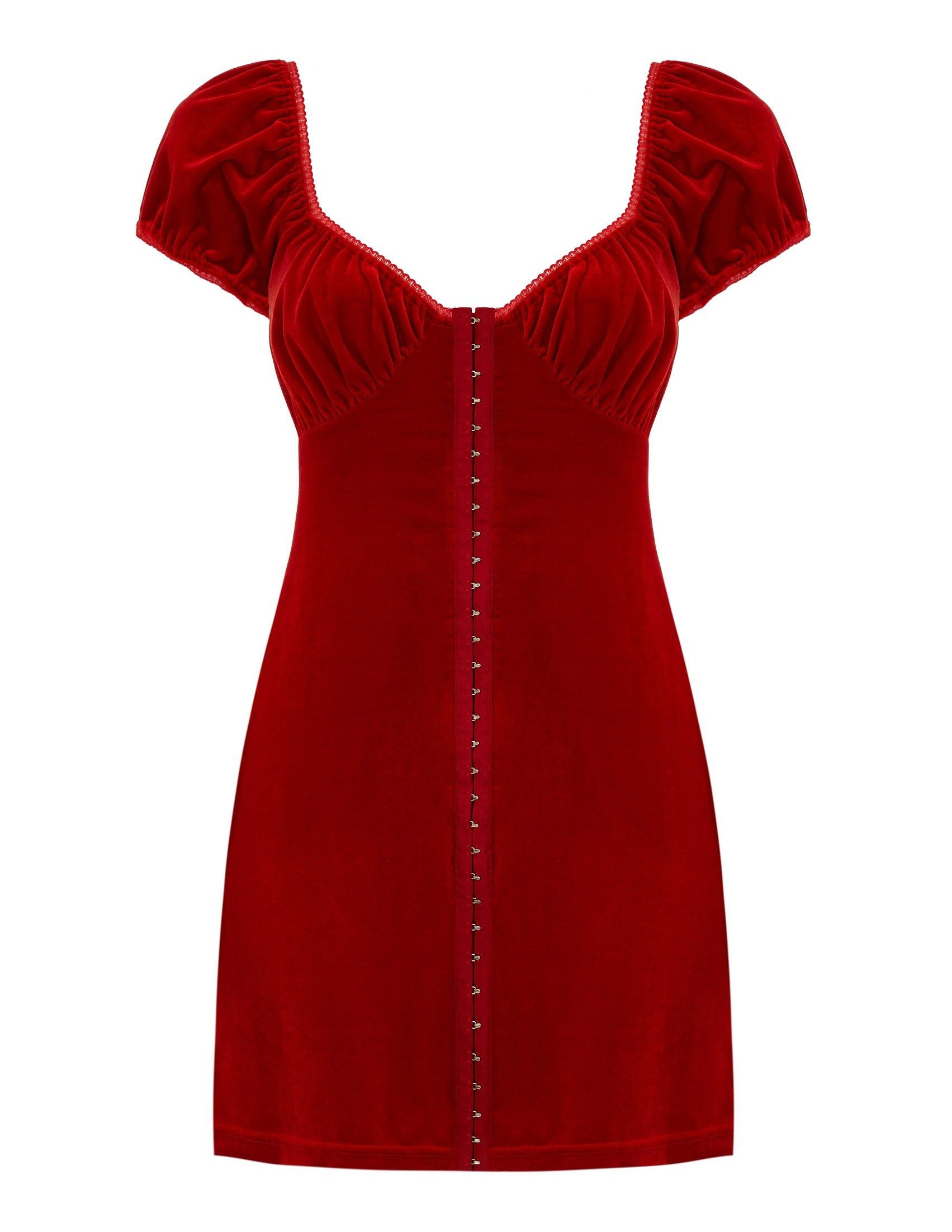 Antonia velvet  corset dress - scarlet