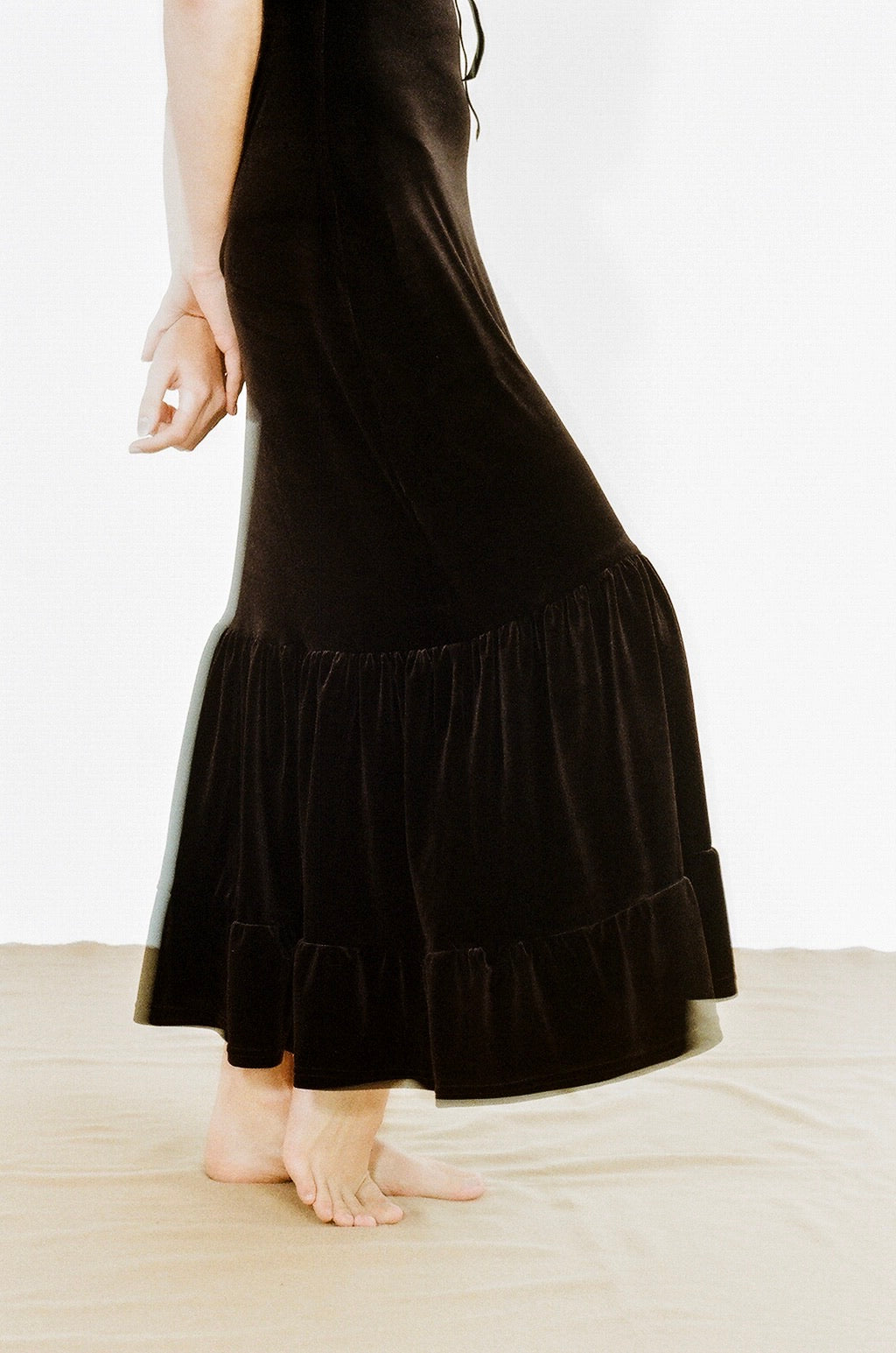 Black maxi Antonia dress