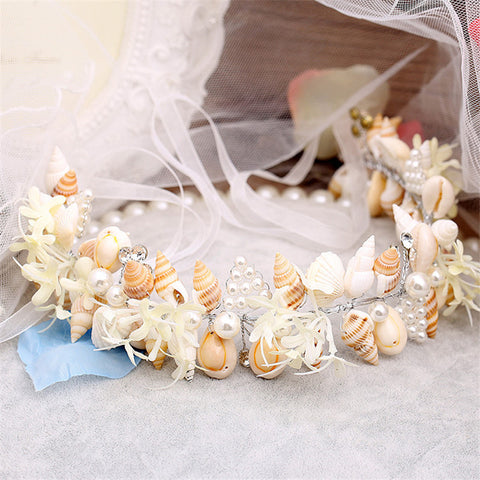 ARIEL Mermaid Seashell Crown Wreath-Hair Accessories-omniqueen-festival-jewelry