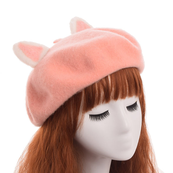 ARTEMIS Cat Ears Beret-Hair Accessories-omniqueen-festival-jewelry
