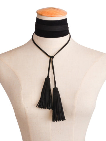 BUFFY Tassel Choker-Necklaces-omniqueen-festival-jewelry