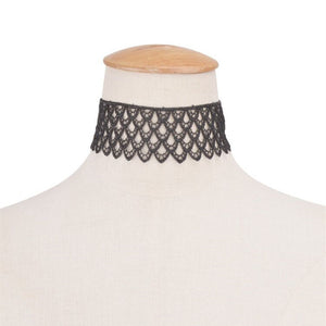 JESSICA Lace Scalloped Choker-Necklaces-omniqueen-festival-jewelry