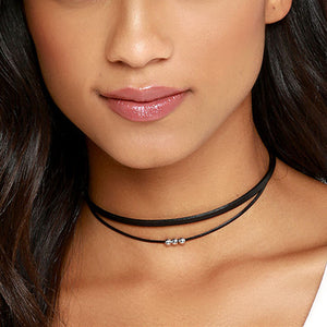 KENDRA Simple Rope Choker With Beads-Necklaces-omniqueen-festival-jewelry