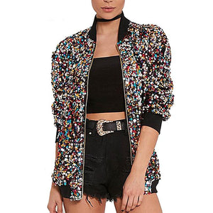 sequin bomber jacket sequin coat music festival fashion