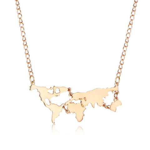 REESE World Map Necklace - 4 Colors