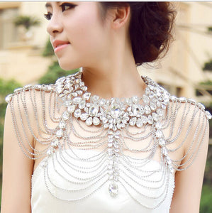 EMMY Crystal Water-Wave Shoulder Chain