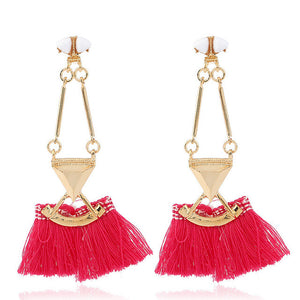 BAYA Tassel Drop Earrings