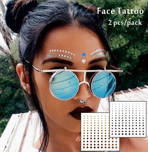 Round and Round Temporary Face Tattoos