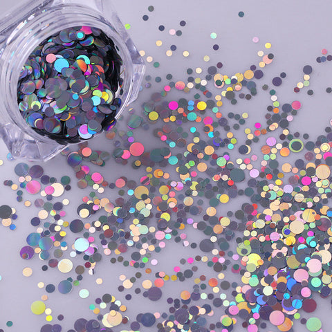 Holographic Mixed Circle Glitter Set