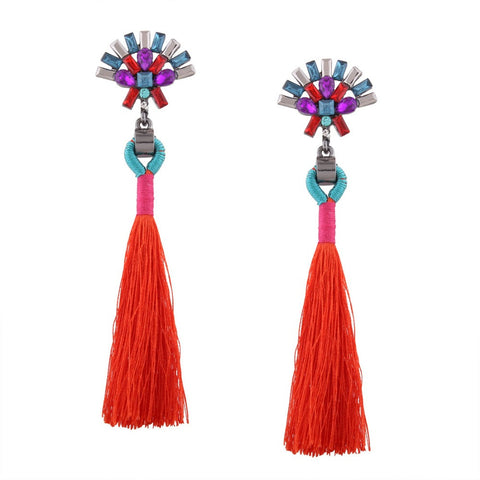 PINA Colorful Crystal Statement Earrings