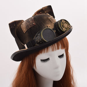 Retro Lolita Style Cat Steampunk Hat
