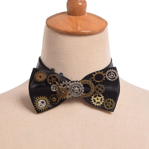 Steampunk Bow Tie-Body Accessories-omniqueen-festival-jewelry