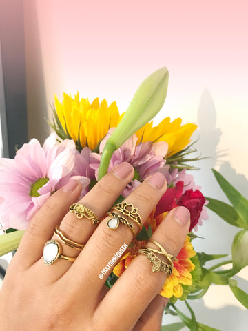 RIVER Midi Ring Set - 7 Pieces