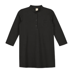 3/4 Long Beach Shirt Nearly Black 2y-8y