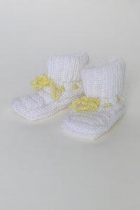 Chaussons Grandma White/Yellow 0/6m -50%