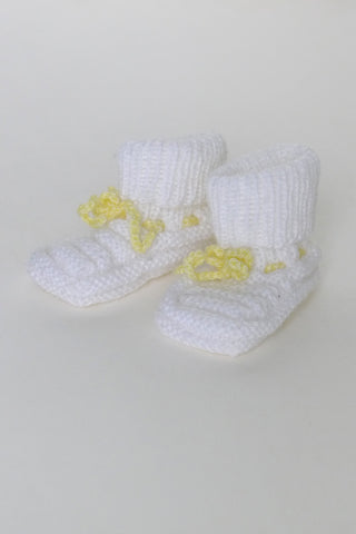 Chaussons Grandma White/Yellow 0/6m