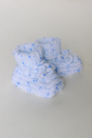 Chaussons Grandma White/Blue 0/6m