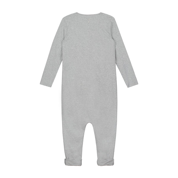 L/S Playsuit Grey 18m-4y