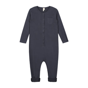 L/S Playsuit Night Blue 2-4y