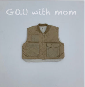 3 & 4 VEST with mom Beige - TU ADULT