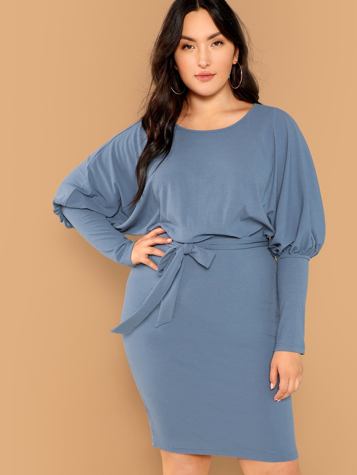 Gigot Sleeve Pencil Dress