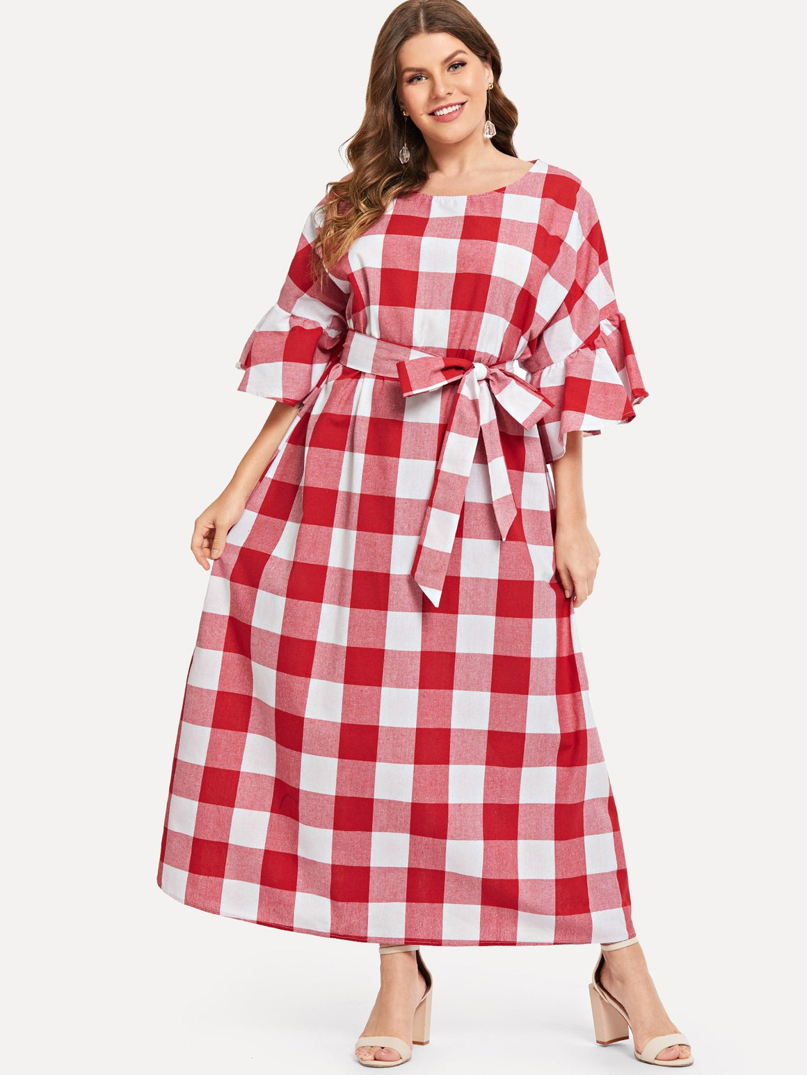 Poppy Maxi Plaid Dress
