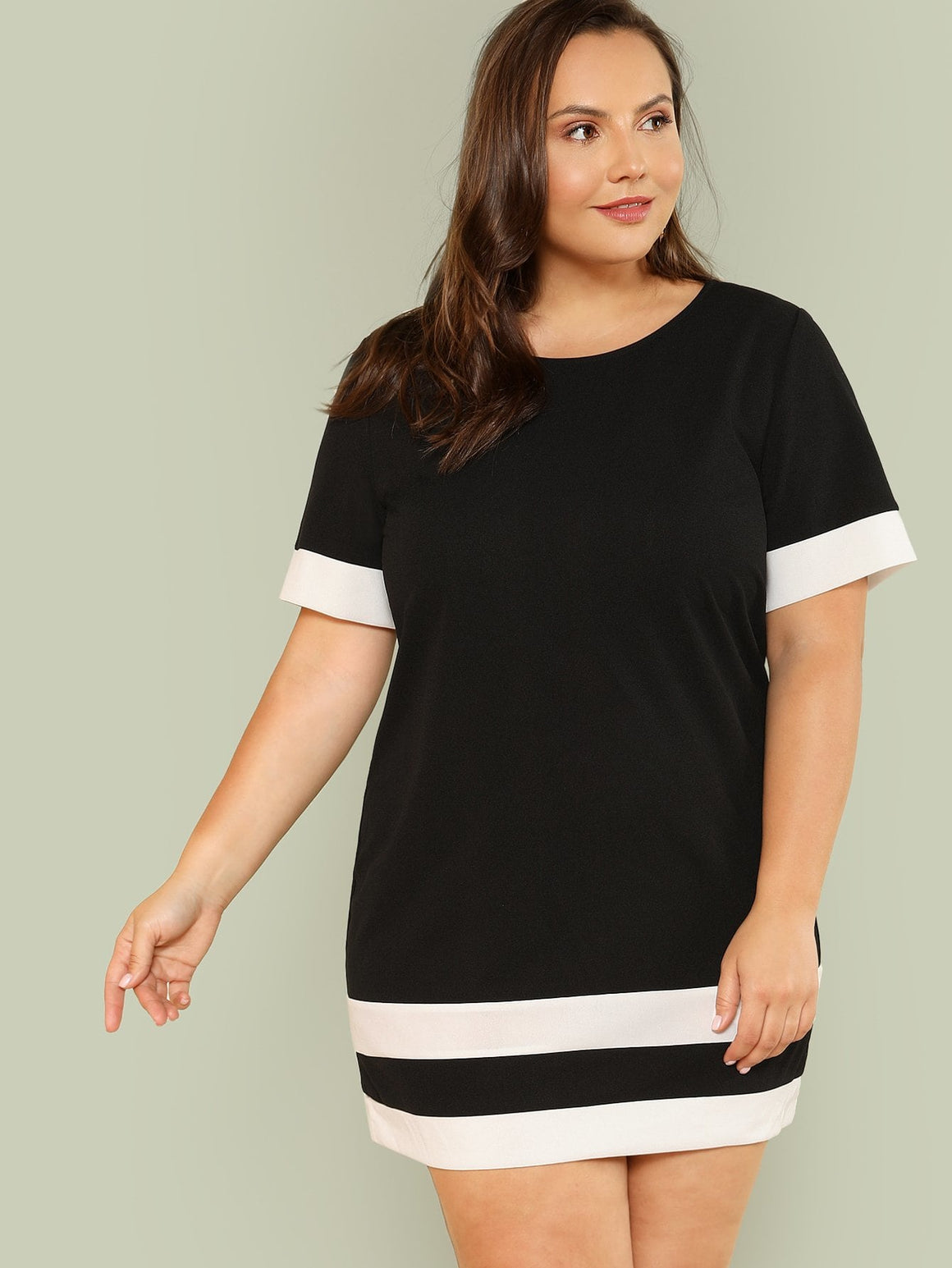 Black & White Panel Tunic Dress