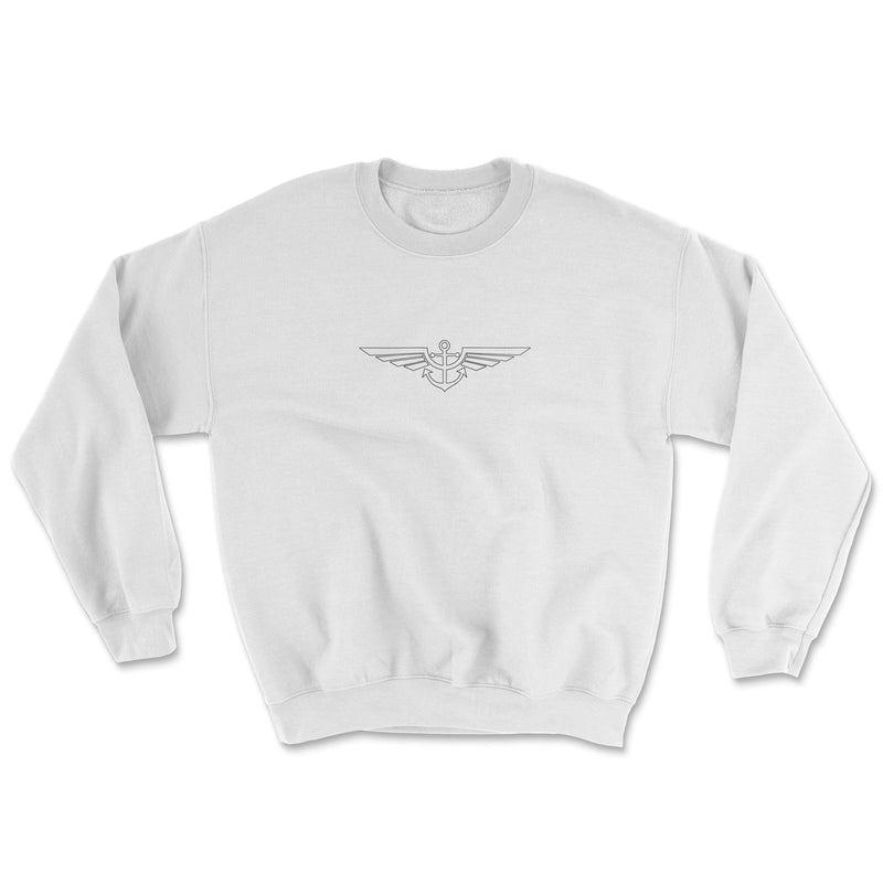 Aeronautical co Blueprint Sweater - White/Grey