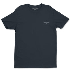 Aeronautical co Embroidered Wings - Navy/Grey