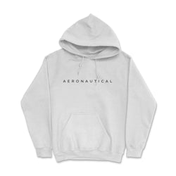 Aeronautical co Spaced Hoodie - White/Grey