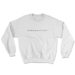 Aeronautical co Spaced Sweater - White/Grey