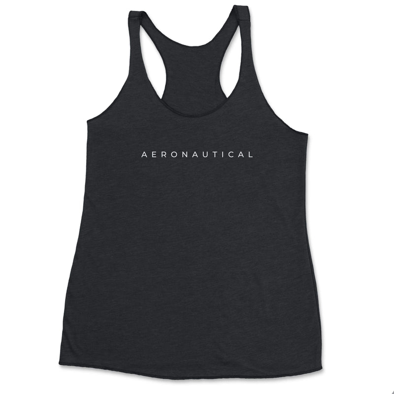 Aeronautical co Spaced Tank Top - Black