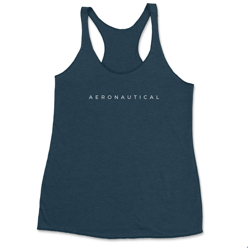 Aeronautical co Spaced Tank Top - Indigo