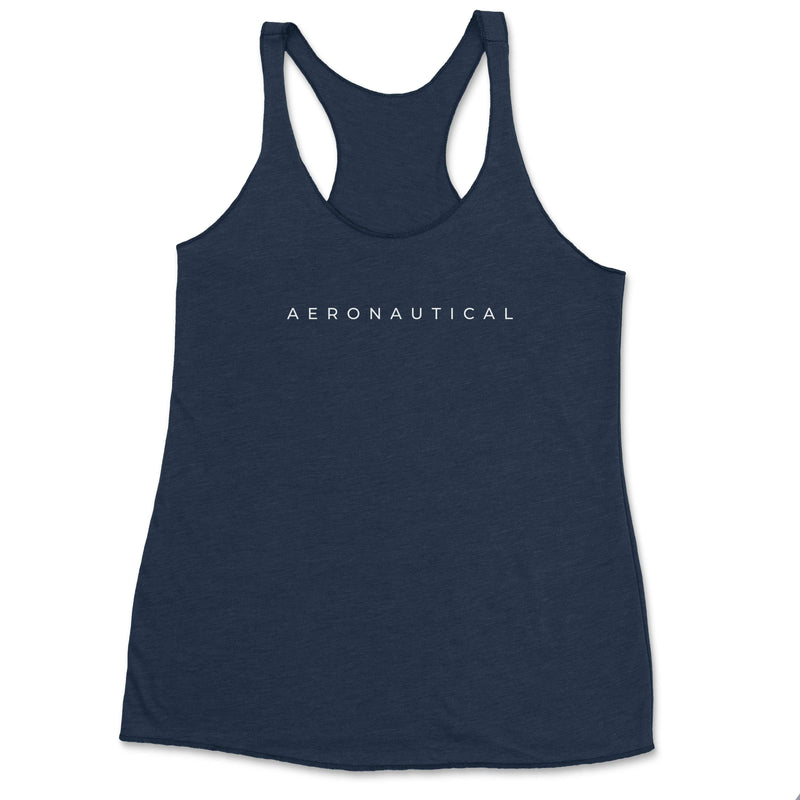 Aeronautical co Spaced Tank Top - Navy