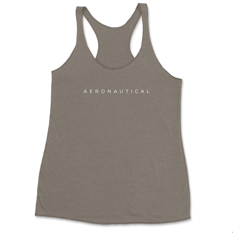 Aeronautical co Spaced Tank Top - Vintage Grey