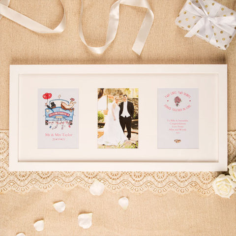 Premium Illustrated Wedding Wall Frame