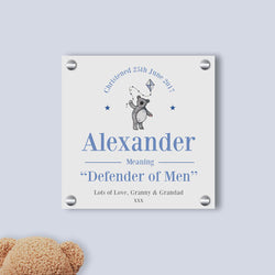 Baby Boy Teddy Name Meaning Gallery Print