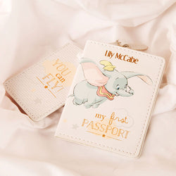 Personalised Dumbo My First Passport Holder and Luggage Tag Set