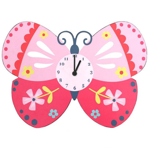 Bright Butterfly Clock